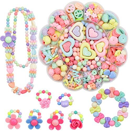 millya DIY Acryl Mixed Bead Set Spielzeug Armband Halskette Colorful Schmuckherstellung Kit Art Craft für Mädchen (Bead Kits Für Mädchen)