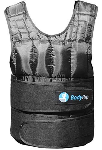 BodyRip Gewichtsweste Komfort Gepolstert 2.0 Design | Eine Grösse Passt Allen, Einstellbar, Atmungsaktives Gewebe, Abnehmbare Gewichte | Zuhause, Fitnessstudio, Übung, Fettabbau, Pilatus | 10kg