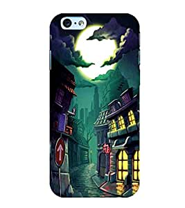 For Apple iPhone 6s Plus :: Apple iPhone 6s+ halloween day ( halloween day, halloween, horror, dangerous, moon ) Printed Designer Back Case Cover By CHAPLOOS