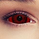 """Sclera lentillas de color rojo para Halloween 22mm demonio lentillas de seis meses sin dioprtías / corregir + gratis caso de lente """"Baal"""""""