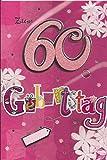 Geburtstagskarte zum 60. Geburtstag - Handmade Style - Motiv 02