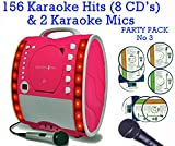 Portable Karaoke Machine & CD Player - Classic 343 PARTY PACK 3