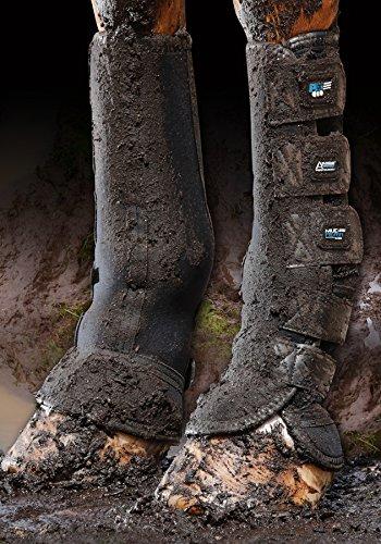 Turnout / Mud Fever Boots Outdoor- und Paddock Gamasche Größe L, Farbe Black
