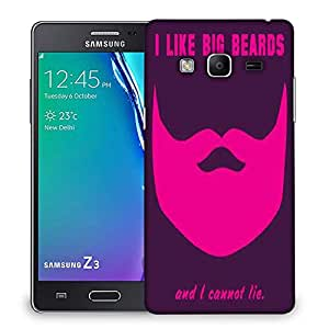 Snoogg Big Beards cannot lie 2919 Designer Protective Back Case Cover For Samsung Galaxy Tizen T3