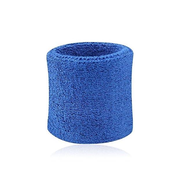 LovelyLifeAST 8cm*7.5cm Bracelet Bandeau Poignet /éponge de Sport Bleu fonc/é