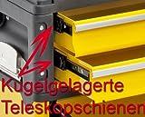 Kunststoff/Metall Trolley 4 Module - 2 x 2 Schubladen - 6 Fächer -gelb -