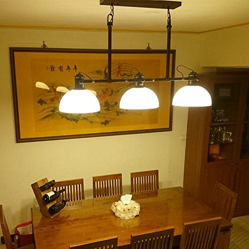 SDKKY American retrò tre villaggi industriali opere in ferro lampadario lampada da tavolo Studio droplight sala da ballo 1200*630mm