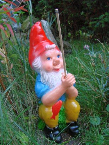 Gartenzwerg Angler aus bruchfestem PVC Zwerg Made in Germany Garten Figur