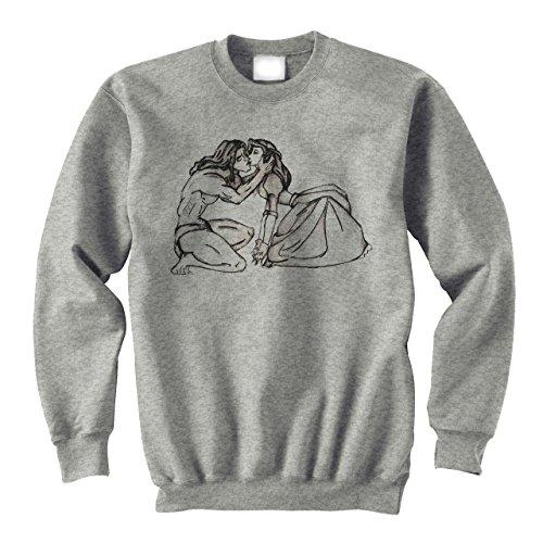 Tarzan's and Jane's First Kiss Medium Unisex Sweater (Tarzan Und Jane Outfits)