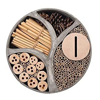 Gardigo 90567 - Natural Wooden Round Insect Hotel; Nesting/Hibernating Home; Bugs, Bees, Wasps, Butterflies House; Gift Idea; 30 x 30 x 6,5 cm Gardigo 90567 – Natural Wooden Round Insect Hotel; Nesting/Hibernating Home; Bugs, Bees, Wasps, Butterflies House; Gift Idea; 30 x 30 x 6,5 cm 51 2BKc2BkXGL