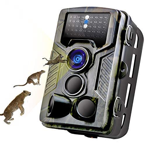 """MTFY Wildkamera,Jagd Kamera Fotofalle Nachtsicht 16MP Full HD 1080P mit 0,3S Triggerzeit 120° Weitwinkel 940nm Infrarote led 2.0\"""" LCD IR Trailkamera Beutekameras Überwachungskamera für Garten&Jagd"""