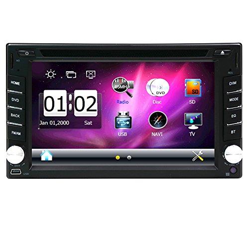 EINCAR Doppel-DIN-In Dash-Steuerger?t Kapazitive Digital-Bildschirm-Wince-System 6.2 Zoll 2 L?rm-Auto-DVD-VD-Spieler GPS-Navigation Autoradio Bluetooth Audio-Stereo mit 8 GB MAP