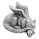 gartendekoparadies.de Riesiger antiker Drache Steinfigur Feng Shui Dragon aus Steinguss, frostfest