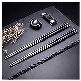 Hongyantech 5 Paar Edelstahl Essstäbchen Geschenkset Japanisches Hotel Restaurant Essstäbchen Set (Japan)