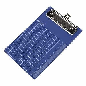 SODIAL(R) Porte Bloc a Pince Ecritoire Planchette en Plastique Bleu pour Papier A6