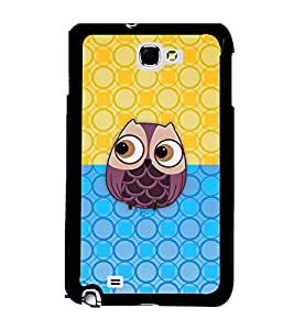Fuson 2D Printed Cartoon Designer back case cover for Samsung Galaxy Note 1 - D4126