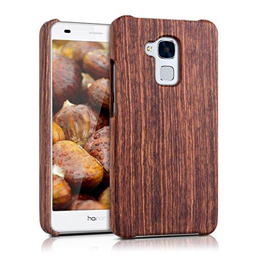 kwmobile Holz Hülle für Huawei Honor 5C Case Rosenholz - Handy Cover Schutzhülle aus Holz in Dunkelbraun