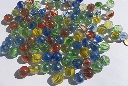 Bunte Glasmurmeln Glaskugeln 16mm Durchmesser 500gr Dekokugeln Murmel Dekoration Glaskügelchen bunt von CRYSTAL KING
