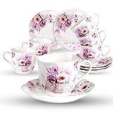 Cerámica 6 Juegos de Tazas de Café Con Platos - 220ML Exquisita...