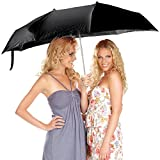 PEARL Regenschirm für zwei: Paar-Regenschirm für 2 Personen inklusive Schutzhülle (Doppelregenschirm)