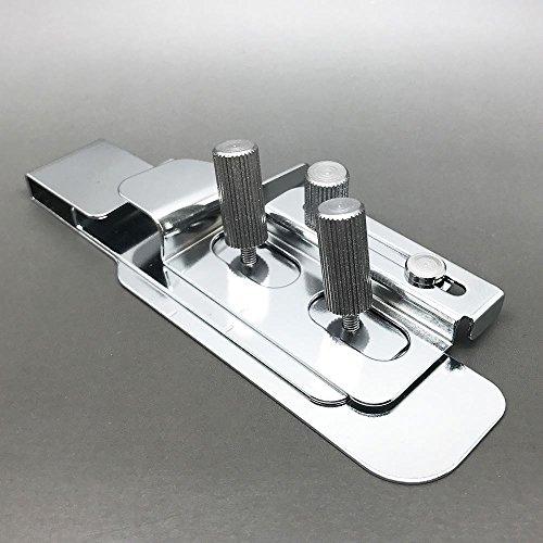 Austin Hemming Guide für stichlinie für BERNINA Bernette Modelle L220, 009dcc, 1300MDC, 1300dc, 2000dce, 2500dce und 2500dcet, Metall, silber, 14x 9,5x 3,8cm (Hemming Maschine)