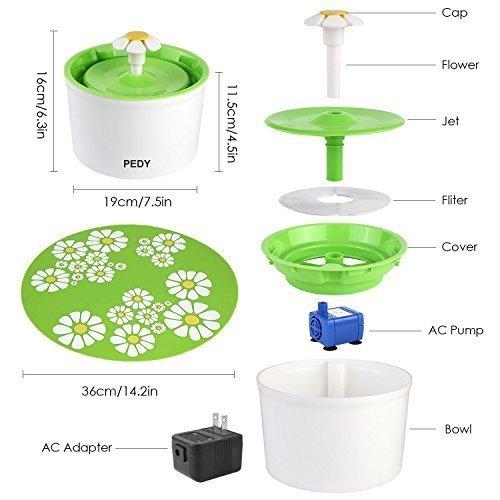 Zoom IMG-3 pedy fontanella fontana floreale automatico