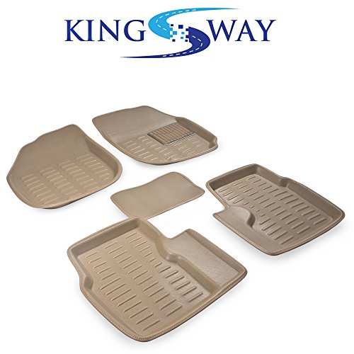 kingsway 3d car mats for ford ecosport (beige, pvc) Kingsway 3D Car Mats for Ford Ecosport (Beige, PVC) 51 2BKig1YMYL