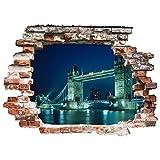 Bilderwelten 3D Wandtattoo - Tower Bridge - Quer 3:4, Größe: 120cm x 160cm