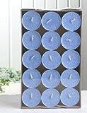30er-Packung Bio-Teelichter / Stearin-Teelichter, blau