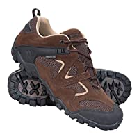 Mountain Warehouse Curlews Mens Waterproof Walking Shoes - Quick Drying Hiking Boots, Suede & Mesh Outer Material Outdoor Shoes, Rubber Sole - Ideal for Camping, Hiking