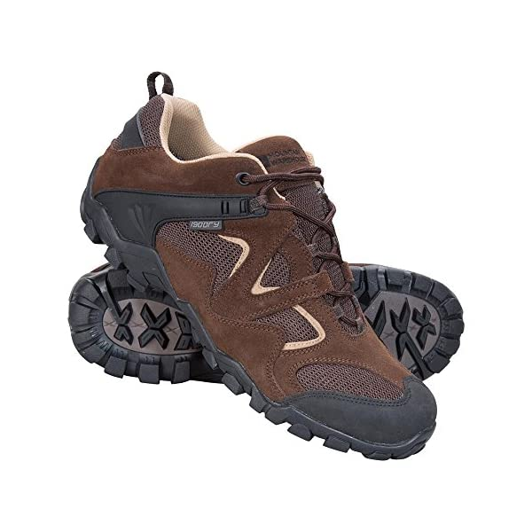 Mountain Warehouse Curlews Mens Waterproof Walking Shoes - Quick Drying Hiking Boots, Suede & Mesh Outer Material Outdoor Shoes, Rubber Sole - Ideal for Camping, Hiking 1