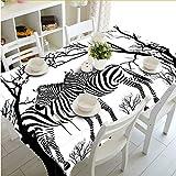 Djkaa Nouvelle Plaid 3D Nappe Blanc Zèbre Animaux Motif Étanche Lavage Épaissir Rectangulaire Table De Mariage De Mariage Textiles