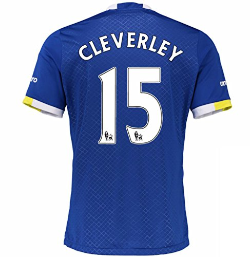 2016 2017 Everton FC 15 Tom Cleverley Home Football Soccer Jersey In Blue