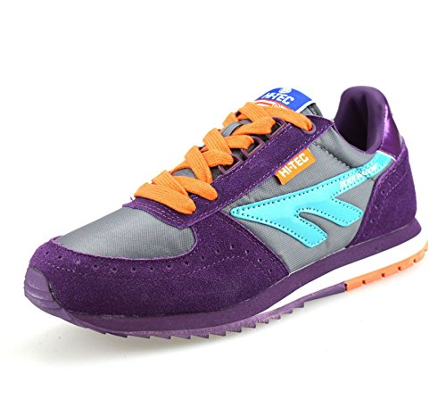 Ladies Womens Hi Tec Casual Running Gym Sports Suede Mesh Trainers Shoes...
