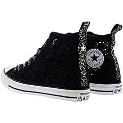 Converse All Star Hi Tex Crochet Black Glitter