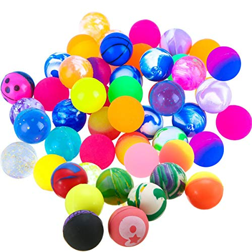 Flummi Frost 20 Zauberkugel Bouncy Balls Flummis Mitgebsel Kindergeburtstag Gummiball Springball Hüpfbälle, Bouncing Balls für Super Sprung Birthday & Christmas Party Bag, Xmas Stocking Füllstoffe -
