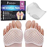 Metatarsal Pads For Sports - Ball of Foot Cushions Extra Soft Cushioning Inserts