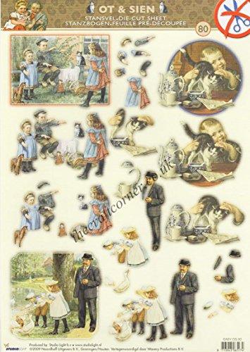 victorian-children-with-cats-ducks-die-cut-3d-decoupage-sheet-no-cutting
