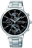 Seiko Unisex-Armbanduhr Chronograph Quarz Edelstahl SNDW49P1