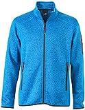 James & Nicholson Herren Jacke Jacke Knitted Fleece Jacket blau (Royal-Melange/Red) XXX-Large