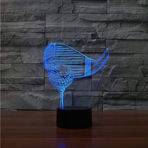 Mbambm 7 Farben Ändern Led 3D Golf Ball Modellierung Tischlampe Touch Usb Lampe Beleuchtung Nacht Sport Nachtlicht Schlaf Dekor Geschenk