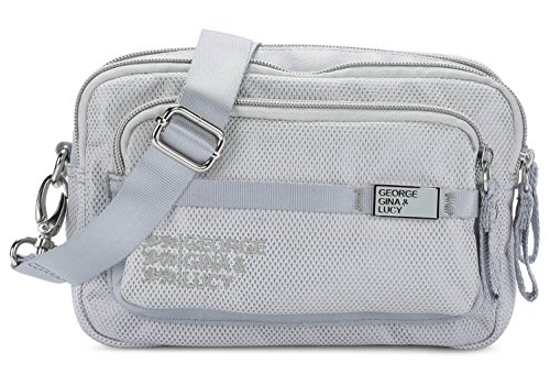 George Gina & Lucy Tasche LOVE LETTERS grey mesh up 910 Grau