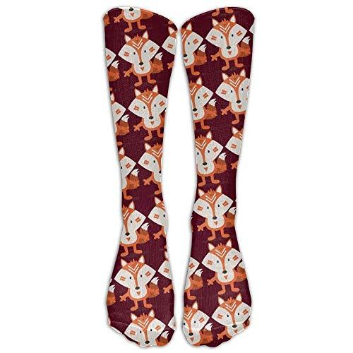 Benutzerdefinierte lustige Strümpfe umfassen die Fox Fashional Geschenk Crew Mädchen Jungen Knie lange Socken Reisen atmungsaktiv -