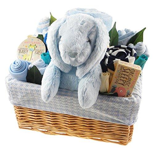 say it Baby Deluxe Baby Boy Gift basket fiore