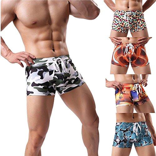 Styledresser-Slip-Uomo-Perizoma-Underwear-Boxer-Short-Basic-Taglia-Biancheria-Intima-Uomo-Pantaloncini-Da-Surf-Nuoto-Stampa-Trunks-Beachwear-Surf