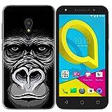 Easbuy Handy Hülle Soft TPU Silikon Case Etui Tasche für Alcatel U5 3G 4047D 4047X 4047 Smartphone Bumper Back Cover Handytasche Handyhülle Schutzhülle