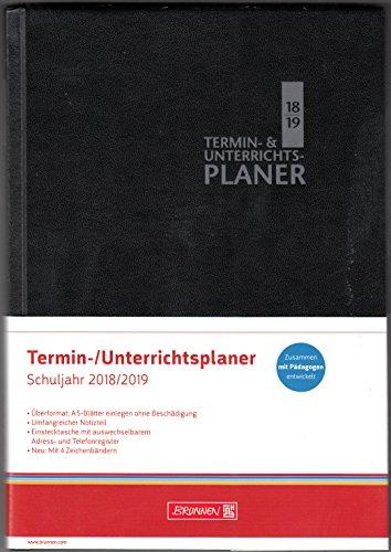 Brunnen Termin und Unterrichtsplaner - Lehrerkalender A5-Plus - Schuljahr 2018 - 2019 - Schwarz - 17 cm x 24,5 cm