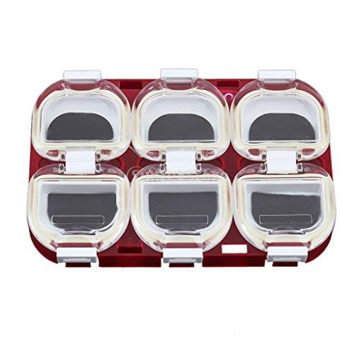 Kunststoff Wasserdicht magnetisch Angeln Haken Aufbewahrungsbox Fall Halter Tackle Gear rot (Werkzeug-boxen Internationale Rot)