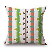 POPRY Europa und Amerika Einfache Baumwolle und Leinen Kissen Sofa Dekorative Kissen, Minderheit Stil Geometrische Kissen, 45x45cm, r