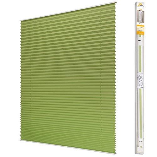 Sol Royal Plissee SolDecor P25 – 45×100 cm Grün – Klemm-Fix ohne Bohren – Plissee-Rollo Jalousie für Fenster & Türen - 3